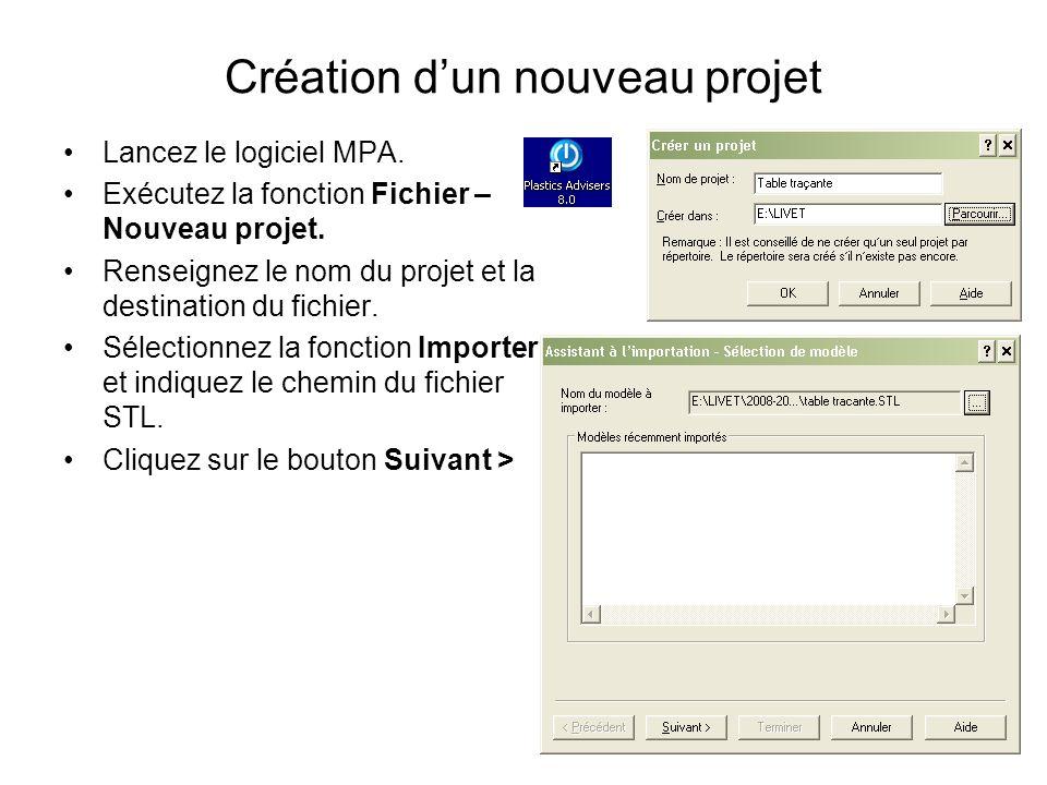 Création d'un nouveau projet