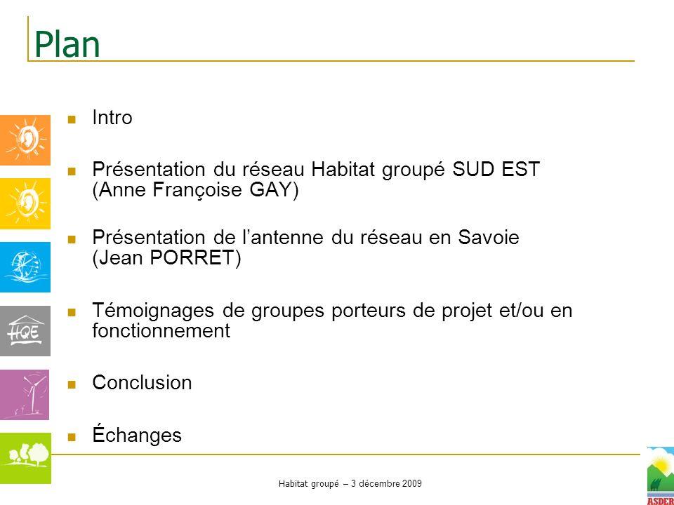 Habitat groupé – 3 décembre 2009