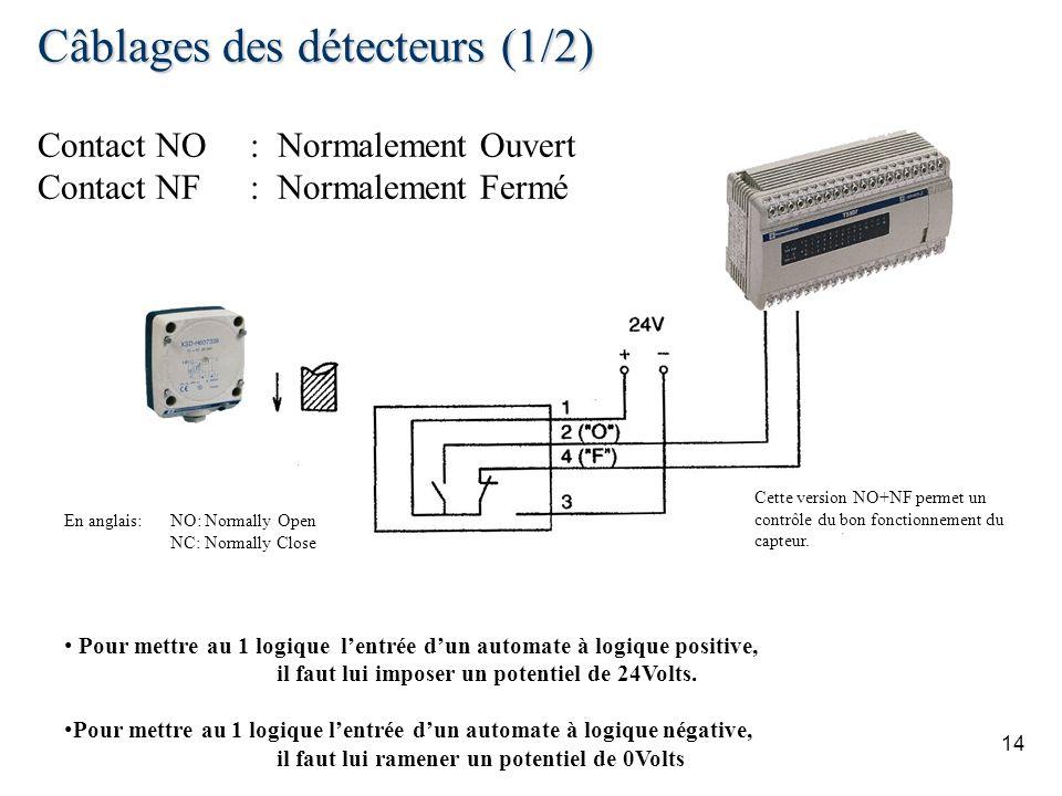 Câblages des détecteurs (1/2)