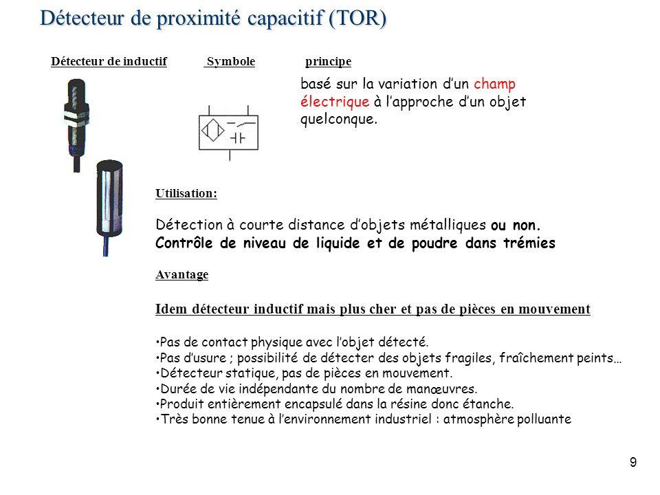 Détecteur de proximité capacitif (TOR)