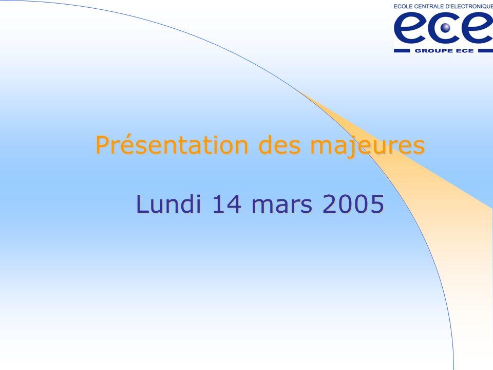 Présentation des majeures Lundi 14 mars 2005