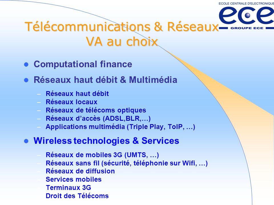 Télécommunications & Réseaux VA au choix