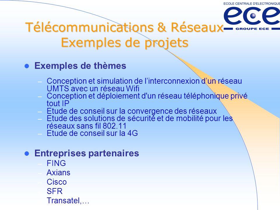 Télécommunications & Réseaux Exemples de projets
