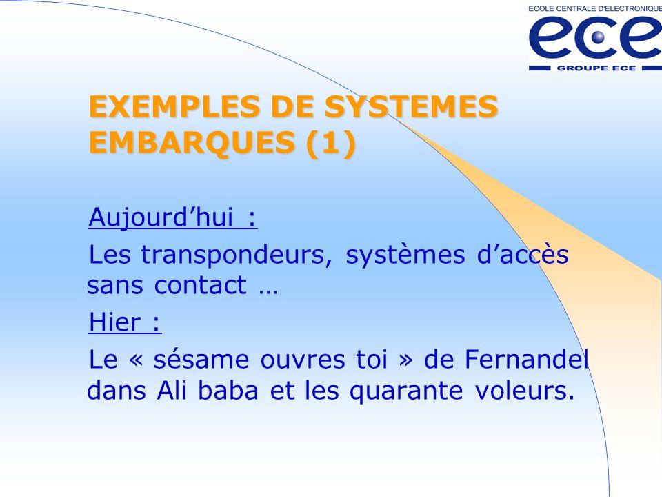 EXEMPLES DE SYSTEMES EMBARQUES (1)