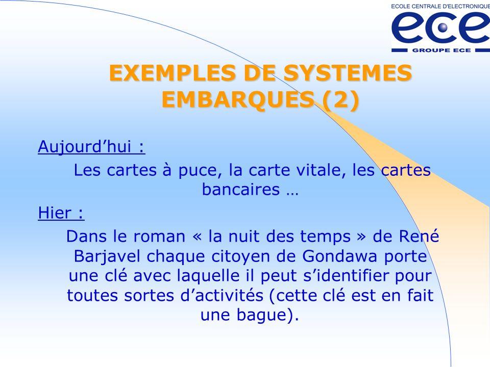 EXEMPLES DE SYSTEMES EMBARQUES (2)