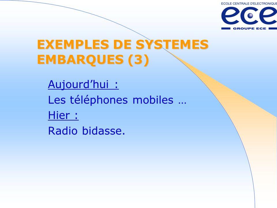 EXEMPLES DE SYSTEMES EMBARQUES (3)