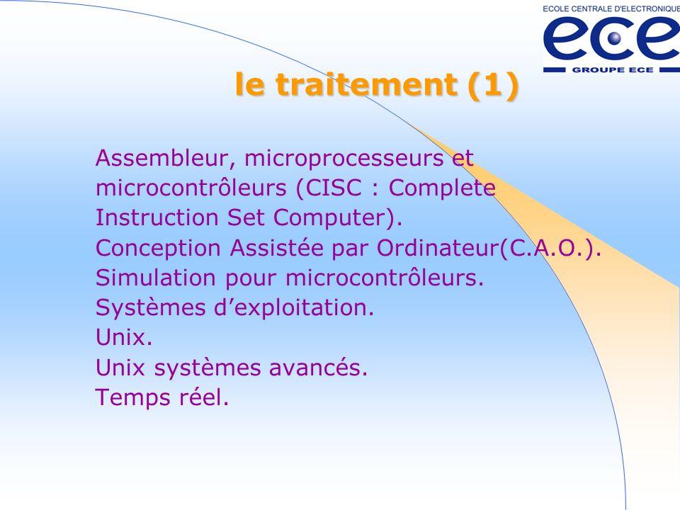 le traitement (1) Assembleur, microprocesseurs et