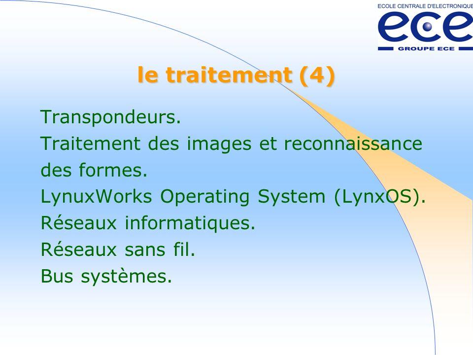 le traitement (4) Transpondeurs.