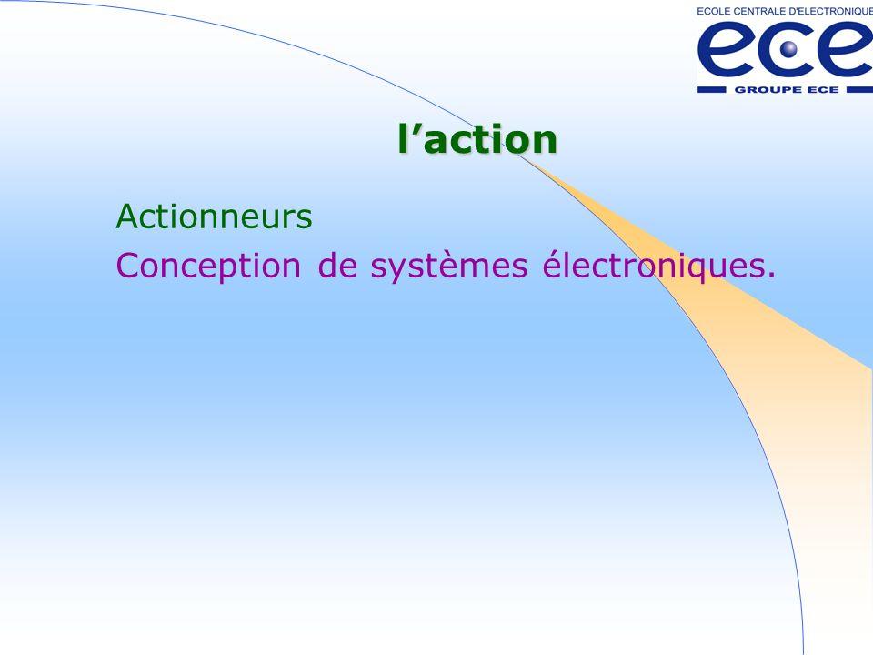 l'action Actionneurs Conception de systèmes électroniques.