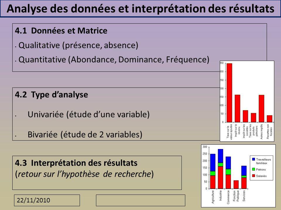 Analyse des données et interprétation des résultats