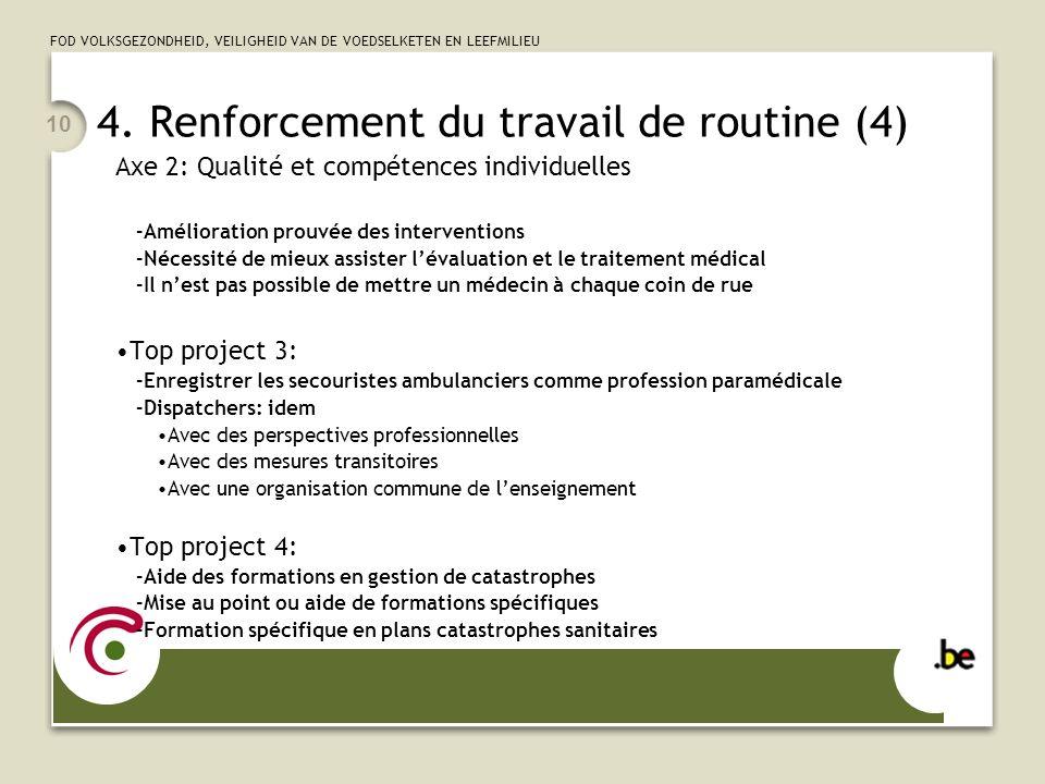 4. Renforcement du travail de routine (4)