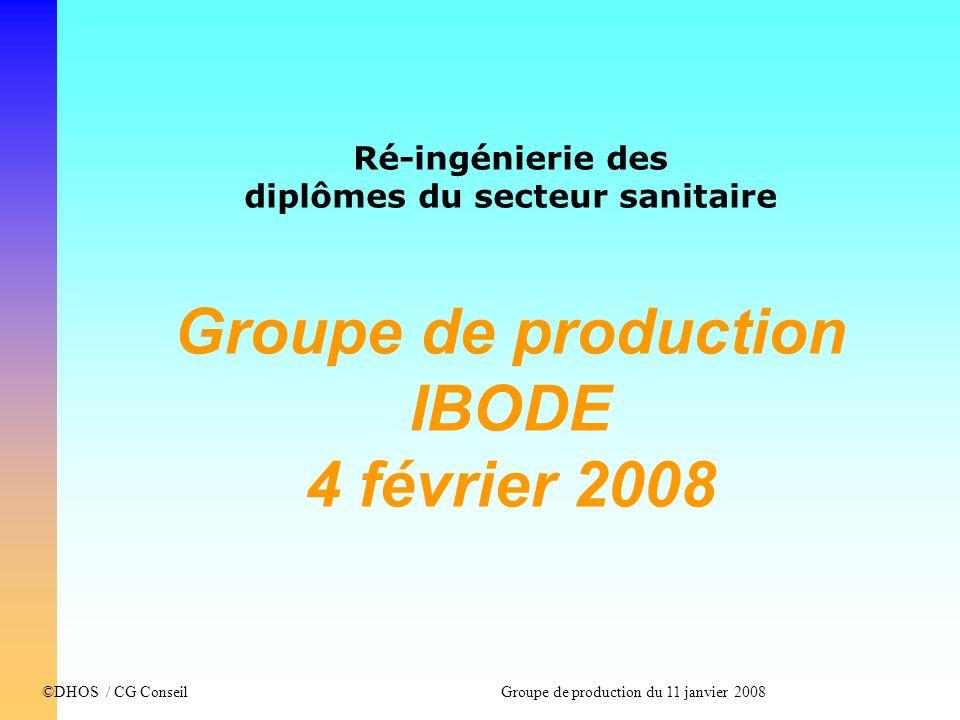 diplômes du secteur sanitaire Groupe de production IBODE