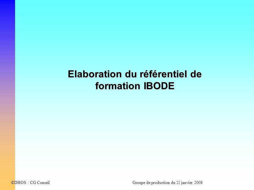 Elaboration du référentiel de formation IBODE