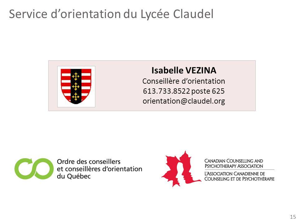 Service d'orientation du Lycée Claudel