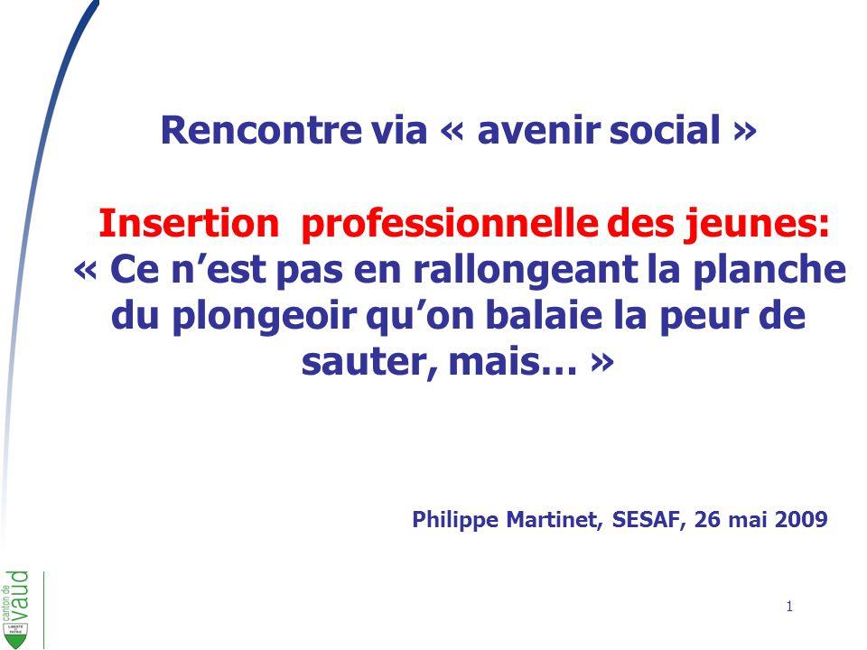 Rencontre via « avenir social » Insertion professionnelle des jeunes: