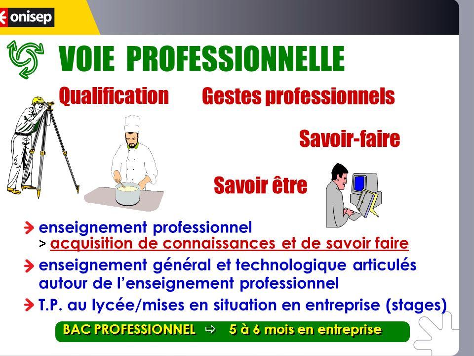 VOIE PROFESSIONNELLE Qualification Savoir-faire Gestes professionnels