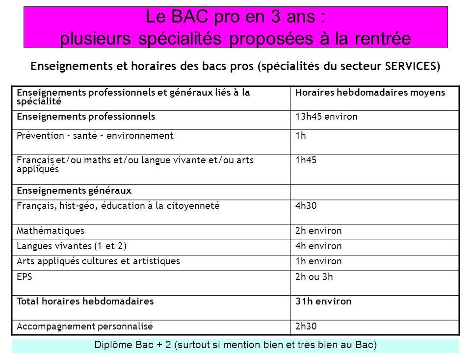 Le BAC pro en 3 ans : plusieurs spécialités proposées à la rentrée