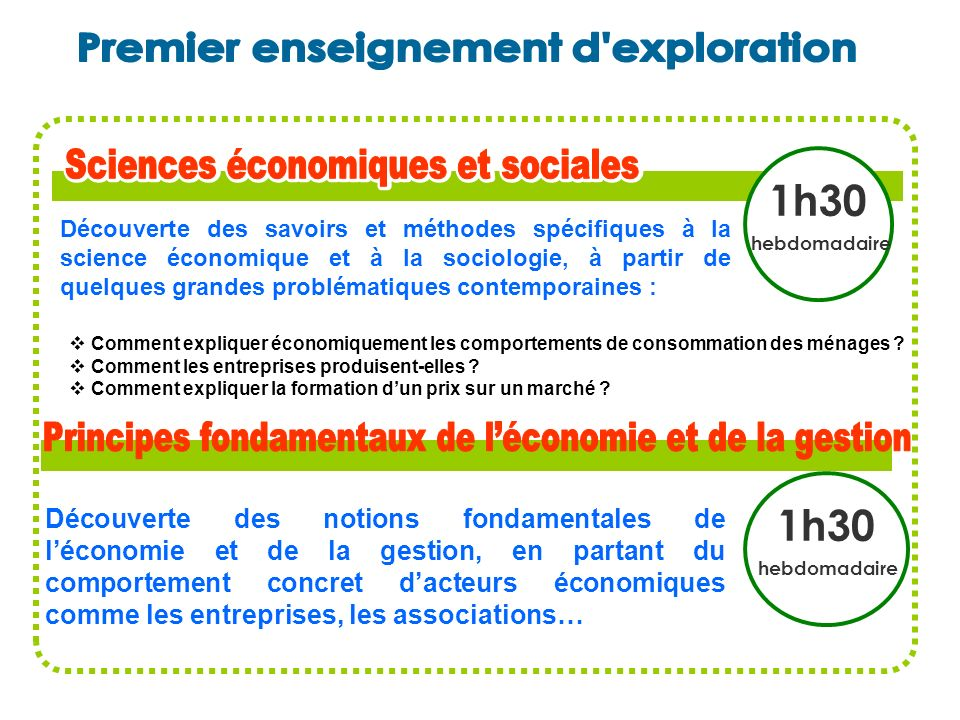 Premier enseignement d exploration