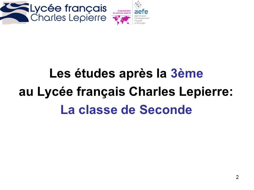 au Lycée français Charles Lepierre: