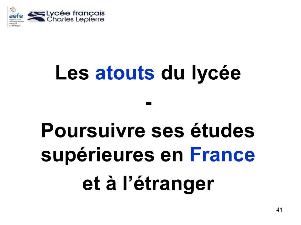 Poursuivre ses études supérieures en France