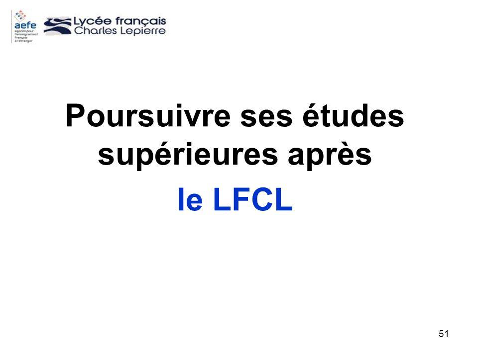 Poursuivre ses études supérieures après le LFCL