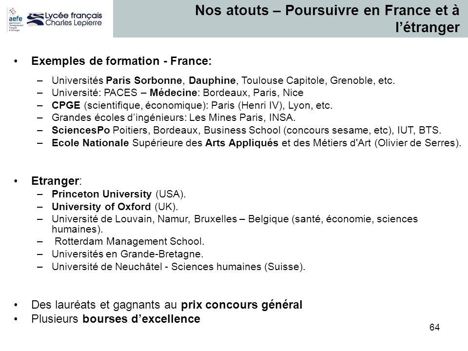 Nos atouts – Poursuivre en France et à l'étranger