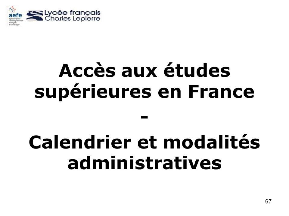 Accès aux études supérieures en France -