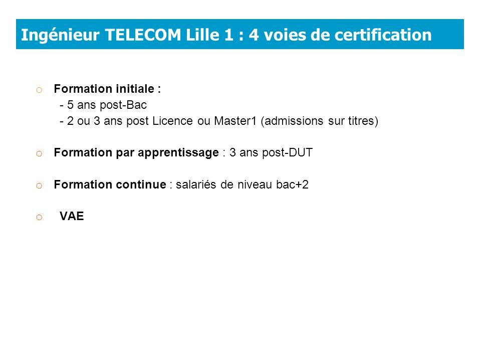 Ingénieur TELECOM Lille 1 : 4 voies de certification