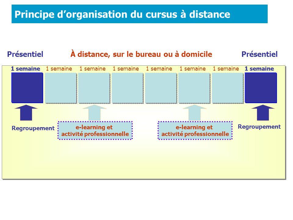 Principe d'organisation du cursus à distance