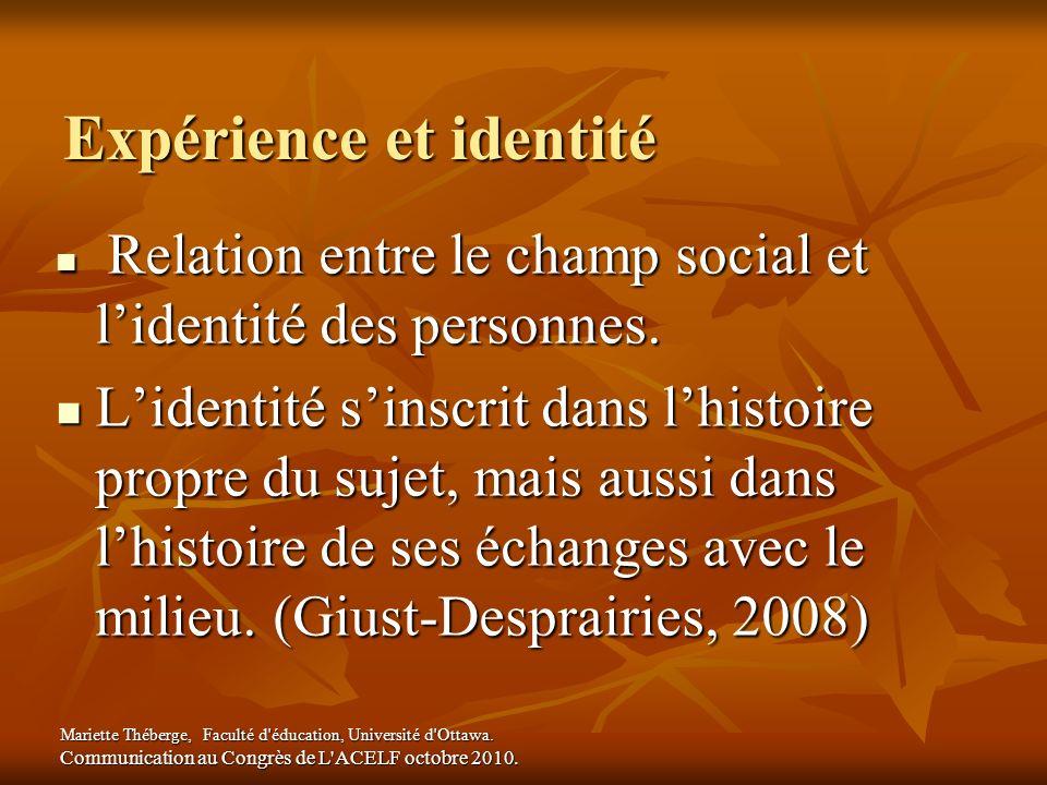Expérience et identité