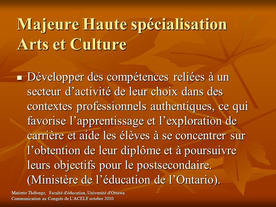 Majeure Haute spécialisation Arts et Culture
