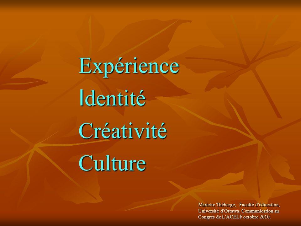 Identité Créativité Culture Expérience