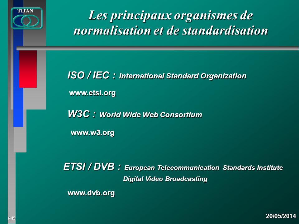 Les principaux organismes de normalisation et de standardisation