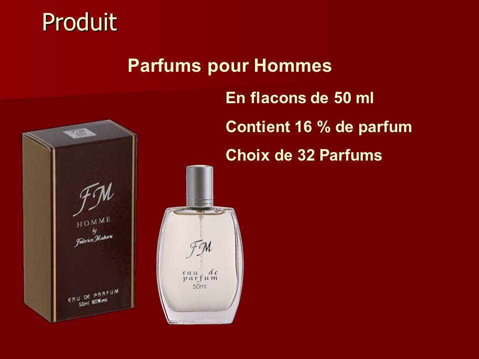 Produit Parfums pour Hommes En flacons de 50 ml