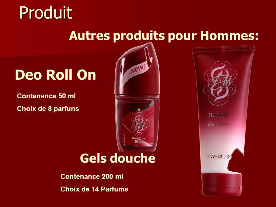 Produit Deo Roll On Autres produits pour Hommes: Gels douche