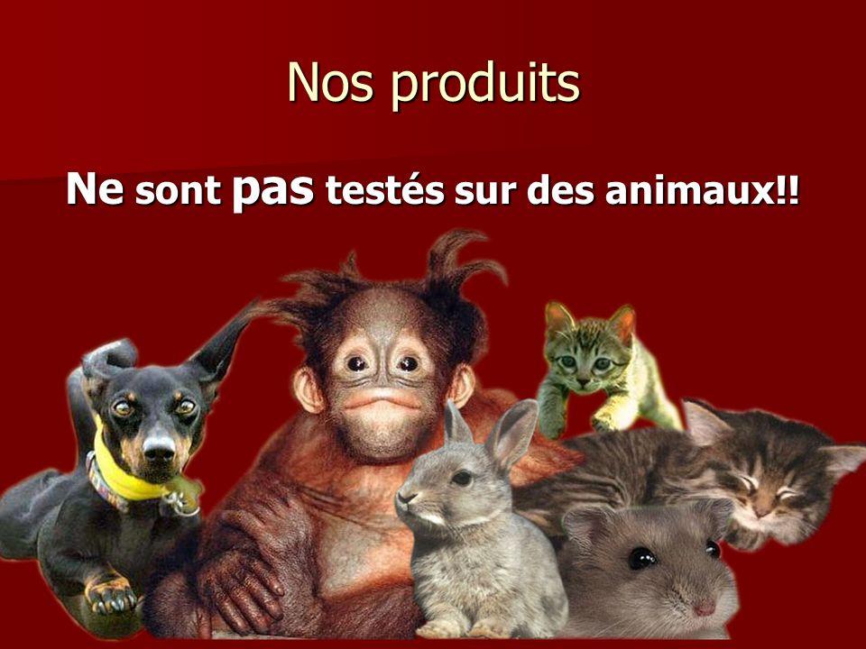 Ne sont pas testés sur des animaux!!