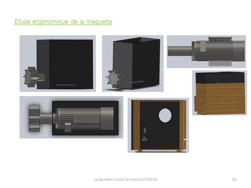 Etude ergonomique de la maquette