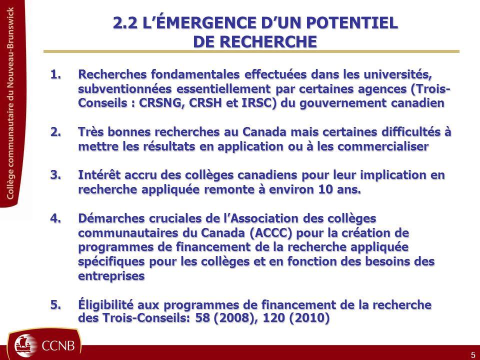 2.2 L'ÉMERGENCE D'UN POTENTIEL