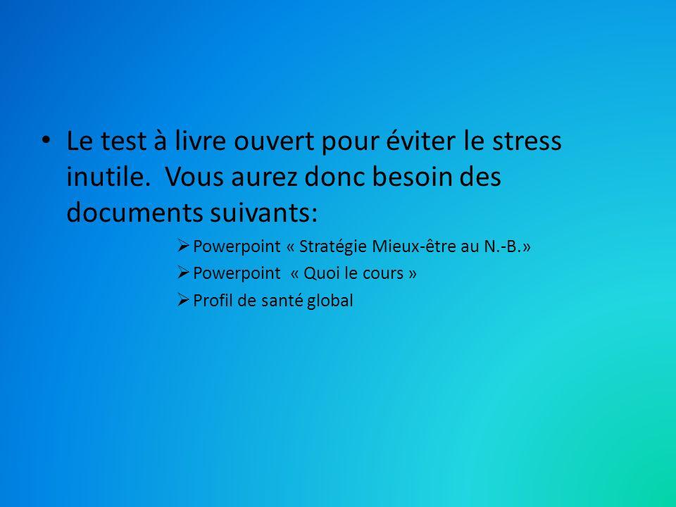 Le test à livre ouvert pour éviter le stress inutile