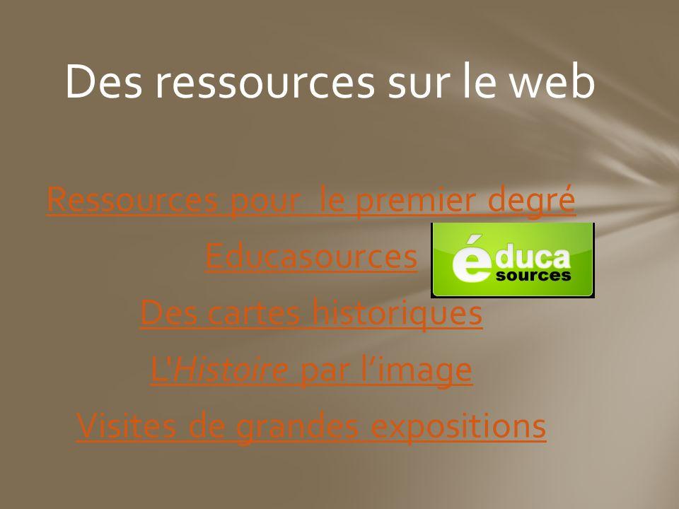Des ressources sur le web