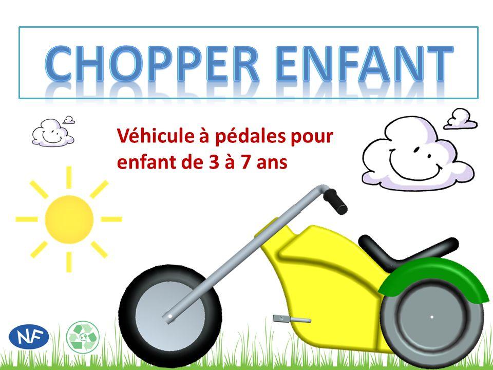 CHOPPER ENFANT Véhicule à pédales pour enfant de 3 à 7 ans
