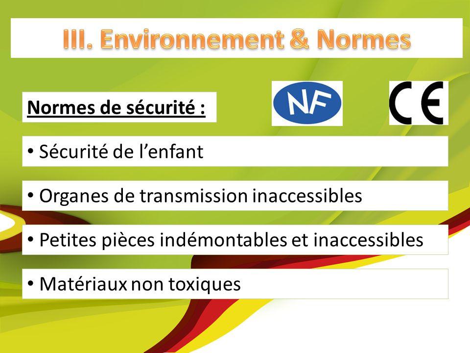 III. Environnement & Normes
