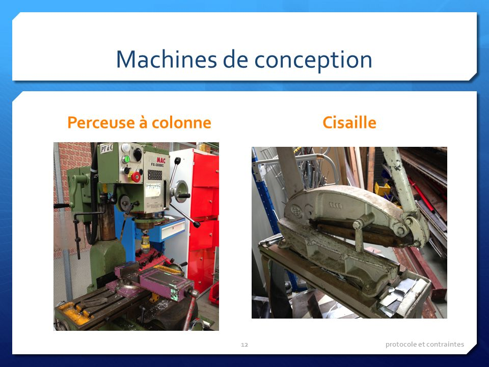Machines de conception