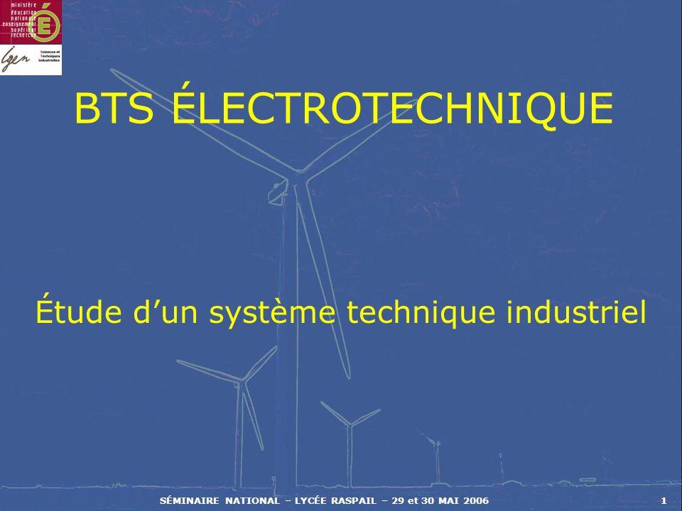 Étude d'un système technique industriel