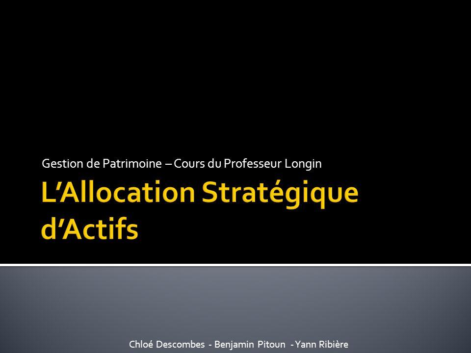 L'Allocation Stratégique d'Actifs