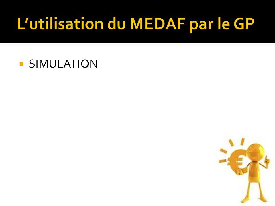 L'utilisation du MEDAF par le GP