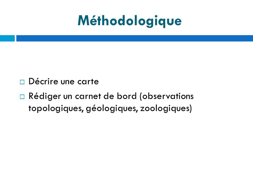 Méthodologique Décrire une carte