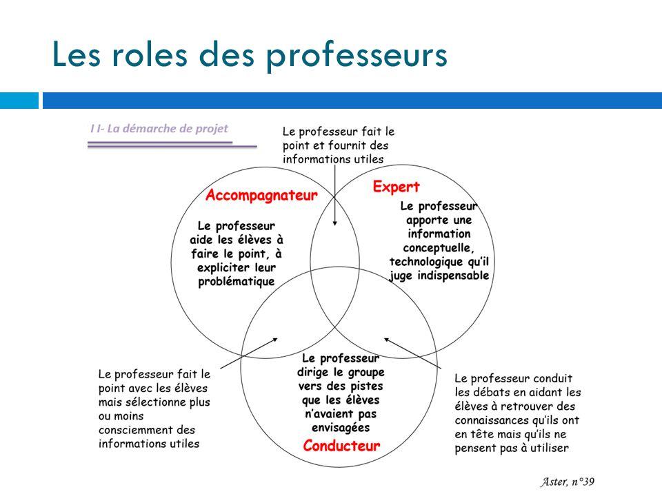Les roles des professeurs