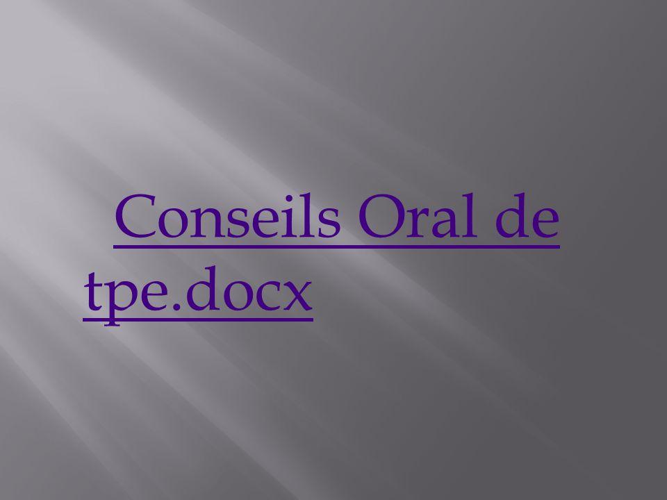 Conseils Oral de tpe.docx
