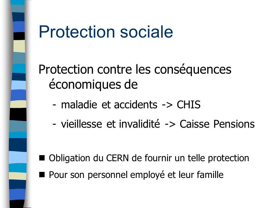 Protection sociale Protection contre les conséquences économiques de